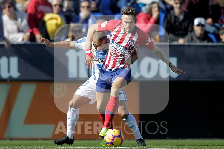 CD Leganes' Nabil El Zhar (l) and Atletico de Madrid's Saul Niguez during La Liga match. November 3,2018. (ALTERPHOTOS/Acero)