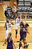 SAN ANTONIO, TX - NOVEMBER 6, 2018: The University of Texas at San Antonio Roadrunners defeat the Concordia University Texas Tornados 78-51 at the UTSA Convocation Center. (Photo by Jeff Huehn)