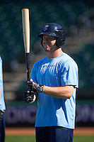 Corpus Christi Hooks center fielder Derek Fisher (22) during batting practice before a game against the Frisco RoughRiders on April 23, 2016 at Whataburger Field in Corpus Christi, Texas.  Corpus Christi defeated Frisco 3-2.  (Mike Janes/Four Seam Images)
