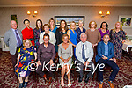 Kay Dowling from Ballymac having a lovely evening in the Rose Hotel with family and friends from the Tralee Education Centre as she retires on Friday, seated l to r: Breda Lyons, Denis Courtney, Kay and Pat Dowling and Terry O'Sullivan. Back l to r: Noel Keenan, Gillian Sheehan, Marie Connell, Nicola O'Connor, Kay McCarthy, Stacy Dineen Higgins, Jackie Murphy, Linda O'Brien, Eileen Falvey, Carol Crean and Máire Vieux.