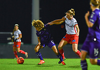 Kassandra Missipo (12) of Anderlecht pictured in a duel with Lotte De Wilde (19) of Zulte-Waregem during a female soccer game between RSC Anderlecht Dames and SV Zulte Waregem on the 10 th matchday of the 2020 - 2021 season of Belgian Womens Super League , friday 18 th of December 2020  in Tubize , Belgium . PHOTO SPORTPIX.BE | SPP | DAVID CATRY