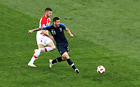 MOSCU - RUSIA, 15-07-2018: Lucas HERNANDEZ (Der) jugador de Francia disputa el balón con Mateo KOVACIC (Izq) jugador de Croacia durante partido por la final de la Copa Mundial de la FIFA Rusia 2018 jugado en el estadio Luzhnikí en Moscú, Rusia. / Lucas HERNANDEZ (R) player of France fights the ball with Mateo KOVACIC (L) player of Croatia during match of the final for the FIFA World Cup Russia 2018 played at Luzhniki Stadium in Moscow, Russia. Photo: VizzorImage / Cristian Alvarez / Cont