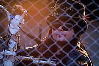 With Full Force Festival 2008 - 4.-6.7.2008  Flugplatz Roitzschjora b. Löbnitz - Das größte und breitgefächertste Metal- und Hardcorefestival in Ostdeutschland - drei Tage volle Dröhnung - über 60 Bands - Headliner in diesem Jahr u.a. Bullet for my Valentine , Machine Head , Ministry und In Flames - im Bild: Alain Jourgensen - Sänger von Ministry hinter Gittern..Foto: Norman Rembarz.
