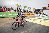 Bauke Mollema (NED/Trek-Segafredo) at the finish up the Col du Portet (HC/2215m)<br /> <br /> Stage 17 from Muret to Saint-Lary-Soulan (Col du Portet)(178km)<br /> 108th Tour de France 2021 (2.UWT)<br /> <br /> ©kramon