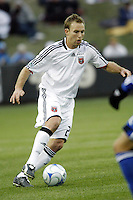 Bryan Namoff of D.C. United. The Kansas City Wizards defeated D. C. United 2 - 0 during a Major League Soccer match at CommunityAmerica Ballpark in Kansas City, Kansas on March 29, 2008.