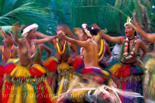 Women perform a traditional dance, Yap, Micronesia. No Releases.