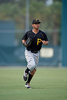 Pittsburgh Pirates Emison Soto (44) jogs back to the dugout during an Instructional League intrasquad black and gold game on September 28, 2017 at Pirate City in Bradenton, Florida.  (Mike Janes/Four Seam Images)
