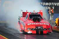 Jan 24, 2009; Chandler, AZ, USA; NHRA funny car driver Bob Tasca III during testing at the National Time Trials at Firebird International Raceway. Mandatory Credit: Mark J. Rebilas-
