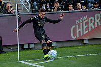 LOS ANGELES, CA - MARCH 01: Brian Rodríguez #17 of the LAFC takes a corner kick during a game between Inter Miami CF and Los Angeles FC at Banc of California Stadium on March 01, 2020 in Los Angeles, California.