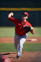 Los Angeles Angels pitcher Zach Hartman (65) during an instructional league game against the Oakland Athletics on October 9, 2015 at the Tempe Diablo Stadium Complex in Tempe, Arizona.  (Mike Janes/Four Seam Images)
