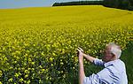 Foto: VidiPhoto<br /> <br /> VERDUN – Koolzaad in volle bloei, zover het oog reikt. In Noord-Frankrijk zijn de beroemde winterkoolzaadvelden weer helemaal terug van weggeweest. Door de droge winter van 2016/2017 werd er zo'n 60 procent minder koolzaad geoogst. Op dit moment staan de velden er uitbundig bloeiend bij en wordt er in juli een optimale oogst verwacht als het weer meezit. Het meeste koolzaad in Frankrijk wordt gebruikt voor biodiesel. De vezels zitten vol onverzadigde vetzuren, eiwitten, vitaminen en mineralen en zijn gewild als krachtvoer voor het vee. Een hectare winterkoolzaad (gezaaid in september) brengt ongeveer 4500 kilo zaad op en zomerkoolzaad (gezaaid vanaf half maart) een derde minder. Het koolzaad bevat 40 tot 45 procent olie. Per hectare kan ongeveer 1300 liter biodiesel geproduceerd worden. Het Franse areaal aan koolzaad ligt op ongeveer 1,5 miljoen hectare.
