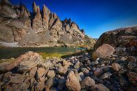 Sky Pond lake in Rocky Mountain National Park, Colorado