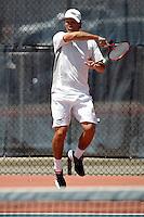 SAN ANTONIO, TX - APRIL 19, 2008: The University of Texas-Pan American Broncos vs. The University of Texas at San Antonio Roadrunners Men's Tennis at the UTSA Tennis Center. (Photo by Jeff Huehn)