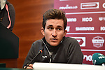 The press conference on the eve of the Strade Bianche and the Strade Bianche Women Elite featured last year's winner Michal Kwiatkowski (POL) held in Palazzo Sansedoni in Piazza del Campo, Siena, Italy. 2nd March 2018.<br /> Picture: LaPresse/Massimo Paolone | Cyclefile<br /> <br /> <br /> All photos usage must carry mandatory copyright credit (© Cyclefile | LaPresse/Massimo Paolone)