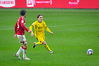 3rd October 2020; Riverside Stadium, Middlesbrough, Cleveland, England; English Football League Championship Football, Middlesbrough versus Barnsley; Callum Styles of Barnsley FC  breaks forward on the ball