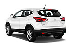 Car pictures of rear three quarter view of a 2018 Nissan Rogue Sport S 4WD 5 Door SUV angular rear