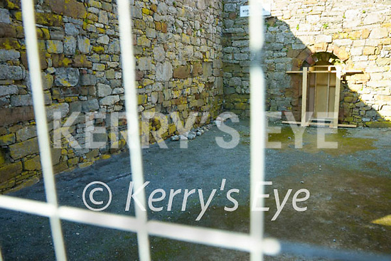 Damage to the 12th century church on the grounds of Ardfert cathedral on Saturday.
