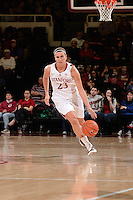 STANFORD, CA - NOVEMBER 26: Jeanette Pohlen of Stanford women's basketball drives upcourt in a game against South Carolina on November 26, 2010 at Maples Pavilion in Stanford, California.  Stanford topped South Carolina, 70-32.