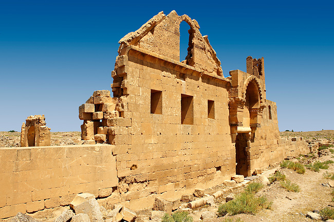 """Pictures of the the ruins of the 8th century University of  Harran, south west Anatolia, Turkey.  Harran was a major ancient city in Upper Mesopotamia whose site is near the modern village of Altınbaşak, Turkey, 24 miles (44 kilometers) southeast of Şanlıurfa. The location is in a district of Şanlıurfa Province that is also named """"Harran"""". Harran is famous for its traditional 'beehive' adobe houses, constructed entirely without wood. The design of these makes them cool inside. 47"""
