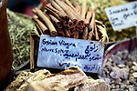 Syrian viagra and other spices for sale in the Souq Medhat Pasha ,or Straight Street, part of the main shopping bazaar of the Old City.