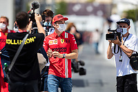 LECLERC Charles (mco), Scuderia Ferrari SF21, portrait during the Formula 1 Azerbaijan Grand Prix 2021 from June 04 to 06, 2021 on the Baku City Circuit, in Baku, Azerbaijan <br /> FORMULA 1 : Grand Prix Azerbaijan <br /> 05/06/2021 <br /> Photo DPPI/Panoramic/Insidefoto <br /> ITALY ONLY