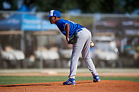Edwin J Sanchez during the WWBA World Championship at the Roger Dean Complex on October 19, 2018 in Jupiter, Florida.  Edwin J Sanchez is a right handed pitcher from Gurabo, Puerto Rico who attends Home School.  (Mike Janes/Four Seam Images)