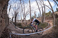 Chelva, SPAIN - MARCH 6: Carlos Canal during Spanish Open BTT XCO on March 6, 2016 in Chelva, Spain