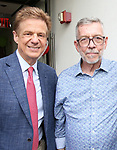 Sandy Kenyon and Sam Rudy attend the Retirement Celebration for Sam Rudy at Rosie's Theater Kids on July 17, 2019 in New York City.