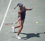 April  10, 2016:  Sloane Stephens (USA) defeated Elena Vesnina (RUS) 7-6, 6-2, at the Volvo Car Open being played at Family Circle Tennis Center in Charleston, South Carolina.  ©Leslie Billman/Tennisclix/Cal Sport Media