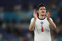 3rd July 2021, Stadio Olimpico, Rome, Italy;  Euro 2020 Football Championships, England versus Ukraine quarter final;   Harry Maguire of England thanks the spectators after the match