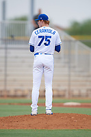 ACL Royals Blue pitcher Eric Cerantola (75) during a game against the ACL Diamondbacks on September 17, 2021 at Surprise Stadium in Surprise, Arizona. (Tracy Proffitt/Four Seam Images)