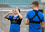 St Johnstone Training…31.07.19<br />Danny Swanson fooling around during training ahead of Saturday's opening game of the season at Celtic Park.<br />Picture by Graeme Hart.<br />Copyright Perthshire Picture Agency<br />Tel: 01738 623350  Mobile: 07990 594431