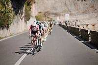 Adam Hansen (AUS/Lotto-Soudal) setting the tempo in the peloton<br /> <br /> 110th Milano-Sanremo 2019 (ITA)<br /> One day race from Milano to Sanremo (291km)<br /> <br /> ©kramon