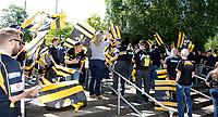 Photo: Richard Lane/Richard Lane Photography. Saracens v Wasps. Aviva Premiership Semi Final. 19/05/2018. Wasps supports wait for the team to arrive.