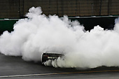 Monster Energy NASCAR Cup Series<br /> Quaker State 400<br /> Kentucky Speedway, Sparta, KY USA<br /> Saturday 8 July 2017<br /> Martin Truex Jr, Furniture Row Racing, Furniture Row/Denver Mattress Toyota Camry celebrates with a burnout<br /> World Copyright: Logan Whitton<br /> LAT Images