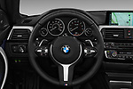 Car pictures of steering wheel view of a 2018 BMW 4 Series 430i M Sport 2 Door Convertible