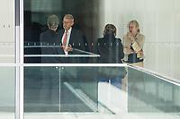 Mitglieder der CDU/CSU-Fraktion im Deutschen Bundestag, waehrend einer ausserordentlichen Sitzung der Fraktion nachdem es zwischen der CDU und der CSU zum Streit ueber den Umgang mit Fluechtlingen gab. Die Sitzung des Deutschen Bundestag wurde aufgrund dieses Streit auf Antrag der CDU/CSU-Fraktion fuer mehrere Stunden unterbrochen. Die Fraktionen von CDU und CSU tagten getrennt.<br /> 2.vl. im Bild: Armin Schuster, CSU, Vorsitzender des Amri-Untersuchungsausschuss.<br /> 14.6.2018, Berlin<br /> Copyright: Christian-Ditsch.de<br /> [Inhaltsveraendernde Manipulation des Fotos nur nach ausdruecklicher Genehmigung des Fotografen. Vereinbarungen ueber Abtretung von Persoenlichkeitsrechten/Model Release der abgebildeten Person/Personen liegen nicht vor. NO MODEL RELEASE! Nur fuer Redaktionelle Zwecke. Don't publish without copyright Christian-Ditsch.de, Veroeffentlichung nur mit Fotografennennung, sowie gegen Honorar, MwSt. und Beleg. Konto: I N G - D i B a, IBAN DE58500105175400192269, BIC INGDDEFFXXX, Kontakt: post@christian-ditsch.de<br /> Bei der Bearbeitung der Dateiinformationen darf die Urheberkennzeichnung in den EXIF- und  IPTC-Daten nicht entfernt werden, diese sind in digitalen Medien nach ß95c UrhG rechtlich geschuetzt. Der Urhebervermerk wird gemaess ß13 UrhG verlangt.]