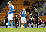 St Johnstone v Partick Thistle…08.08.17… McDiarmid Park.. Betfred Cup<br />Steven Anderson looks on as Ryan Edwards celebrates his goal<br />Picture by Graeme Hart.<br />Copyright Perthshire Picture Agency<br />Tel: 01738 623350  Mobile: 07990 594431