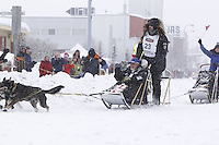 Gerry Willomitzer Saturday, March 3, 2012  Ceremonial Start of Iditarod 2012 in Anchorage, Alaska.