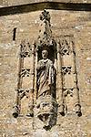 St Bartholomew on the exterior of  St Bartholomews Church Crewkerne Somerset  UK