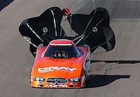 Feb. 23, 2013; Chandler, AZ, USA; NHRA funny car driver Johnny Gray during qualifying for the Arizona Nationals at Firebird International Raceway. Mandatory Credit: Mark J. Rebilas-