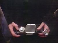 BNPS.co.uk (01202 558833)<br /> Pic: BBC <br /> <br /> Pictured: A pair of jeweled rings as seen in Dr. Who (Tom Baker) Episode: 'Keeper of Traken' (1981).<br /> <br /> Scarce props used in Dr Who that were given to a crew member for his children to play with after filming have emerged for sale.<br /> <br /> The memorabilia that featured in episodes starring Tom Baker as the Doctor in the 1970s includes spage-age weapons, a Tardis control dial and a correction helmet.
