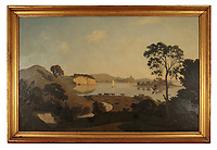 BNPS.co.uk (01202) 558833. <br /> Pic: Duke's/BNPS<br /> <br /> Pictured: This oil on canvas by painting by Algernon Newton is valued at £100,000.<br /> <br /> The lavish contents of one of Britain's most beautiful stately homes are being auctioned off in a £1m everything must go sale.<br /> <br /> Wormington Grange has been owned since the 1970s by John Evetts, the grandson of Lord Ismay, Winston Churchill's chief military strategist during World War Two.<br /> <br /> Mr Evetts has sold the £15m neoclassical Cotswolds mansion as he is downsizing to a smaller property in the area.<br /> <br /> The sale, to be conducted by Duke's, of Dorchester, Dorset, features over 1,000 items ranging in value from £50 kitchen glasses to £100,000 works of art.