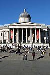 United Kingdom, London: The National Gallery in Trafalgar Square | Grossbritannien, England, London: Trafalgar Square mit der National Gallery
