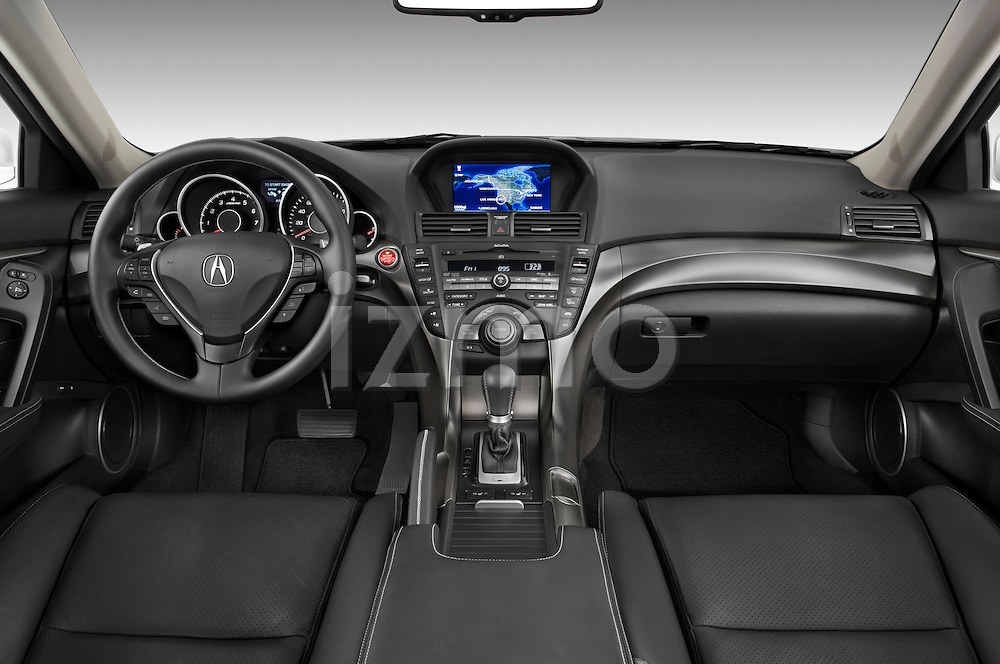Straight dashboard view of a 2009 - 2014 Acura TL SH AWD Sedan.