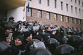 Oppositionsführer Renato Usatii spricht zu den Demonstranten. Zehntausende demonstrieren gegen die neue Regierung in Chisinau, Republik Moldau. / <br />Renato Usatii, leader of the opposition, speaking to the protesters. Tens of thousands protest against the new government in Chisinau, Republic of Moldova.