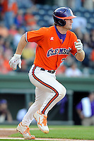Catcher Garrett Boulware (30) of the Clemson Tigers in a game against the Furman Paladins on Wednesday, May 8, 2013, at Fluor Field at the West End in Greenville, South Carolina. (Tom Priddy/Four Seam Images)