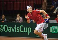 15-sept.-2013,Netherlands, Groningen,  Martini Plaza, Tennis, DavisCup Netherlands-Austria, fourth rubber,  Jurgen Melzer (AUT)<br /> Photo: Henk Koster