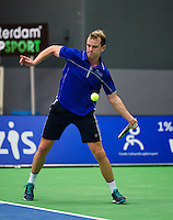 Rotterdam,Netherlands, December 15, 2015,  Topsport Centrum, Lotto NK Tennis, Kevin Boelhouwer (NED)<br /> Photo: Tennisimages/Henk Koster