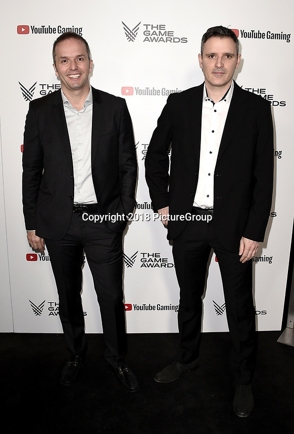 LOS ANGELES - DECEMBER 6: (L-R) Marc-Alexis Cote and Thierry Dansereau attend the 2018 Game Awards at the Microsoft Theater on December 6, 2018 in Los Angeles, California. (Photo by Scott Kirkland/PictureGroup)